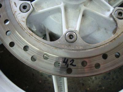 Колеса и тормозные диски для Honda CBR 600 F2