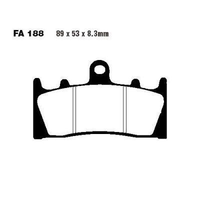Тормозные колодки EBC FA188HH для мотоциклов Kawasaki