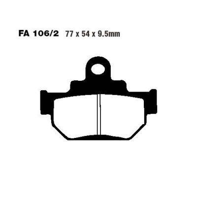 Тормозные колодки EBC FA106/2TT для мотоциклов Suzuki DR 600 1985-1989