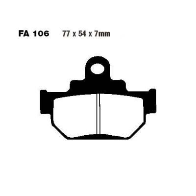 Тормозные колодки EBC FA106 TT для мотоциклов Maico, Suzuki