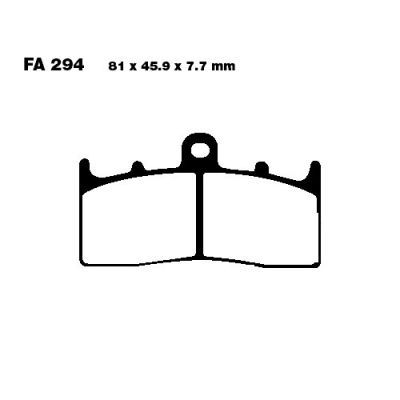 Тормозные колодки EBC FA294HH для мотоциклов BMW K 1200 2001-2009