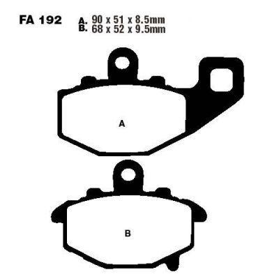 Тормозные колодки EBC FA192HH для мотоциклов CFMOTO NK 650 2014-2015, Kawasaki ER-6F 650 2006-2017