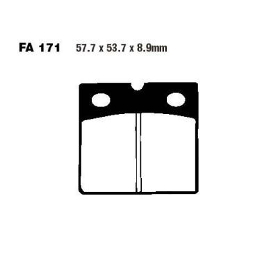 Тормозные колодки EBC FA171HH для мотоциклов BMW K 75 1988-1994