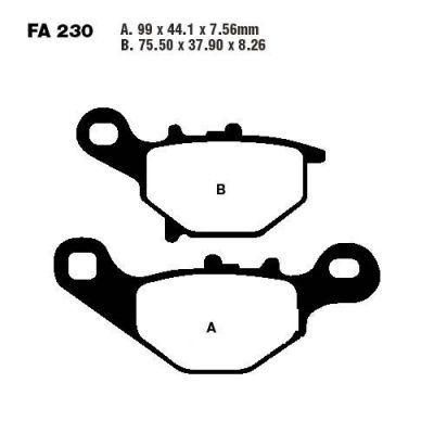 Тормозные колодки EBC FA230TT для мотоциклов Kawasaki, Suzuki