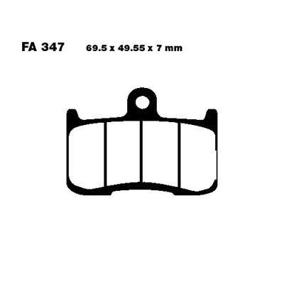 Тормозные колодки EBC FA347HH для мотоциклов Indian Chief 1800  2014-2020, Indian Chieftain 1800 2014-2020