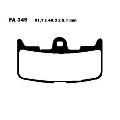 Тормозные колодки EBC FA345HH для мотоциклов Buell