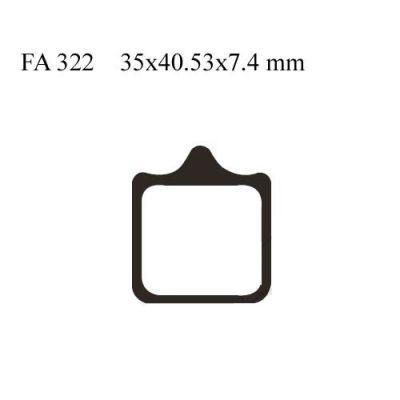 Тормозные колодки EBC FA322/4HH для мотоциклов Aprilia RSV 1000 2001-2010, Aprilia Tuono 1000 2007-2010