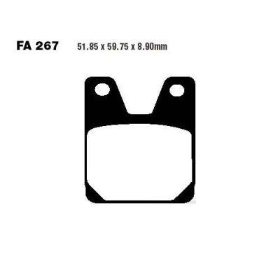 Тормозные колодки EBC FA267HH для мотоциклов Yamaha YZF-R1 1000 1998-2001, Yamaha YZF-R7 750 1999-2001