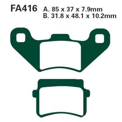 Тормозные колодки EBC FA416TT для мотоциклов Adly/Herchee, Motorhispania