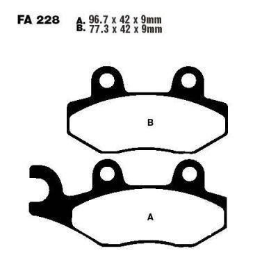 Тормозные колодки EBC FA228HH для мотоциклов Buffalo/Quelle, Generic, Honda, Kawasaki, Keeway