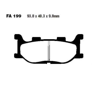 Тормозные колодки EBC SFA199 для мотоциклов Adiva, Italjet, Yamaha