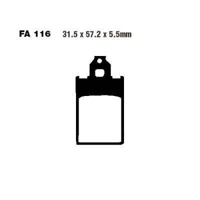 Тормозные колодки EBC SFA116 для мотоциклов Beta, Malaguti