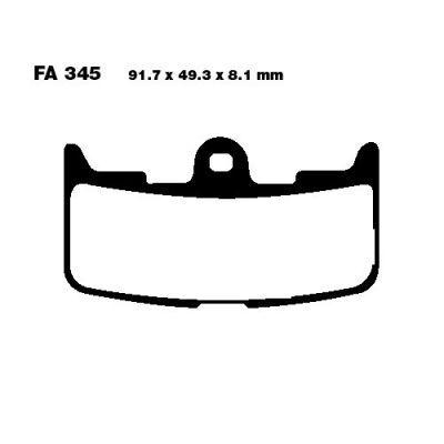 Тормозные колодки EBC EPFA345HH для мотоциклов Buell