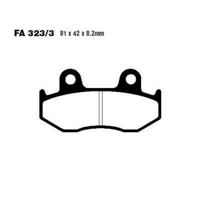 Тормозные колодки EBC SFA323/3 для мотоциклов Suzuki AN 250 Burgman 1998-2000, Suzuki AN 400 Burgman 1999-2000