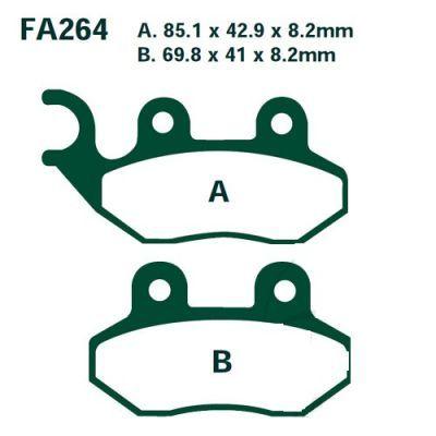 Тормозные колодки EBC SFA264 для мотоциклов Adiva, AJS , Hercules , Lambretta, Pegasus, Peugeot
