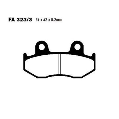 Тормозные колодки EBC SFA323/3HH для мотоциклов Suzuki AN 250 Burgman 1998-2000, Suzuki AN 400 Burgman 1999-2000