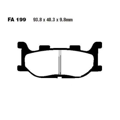 Тормозные колодки EBC SFA199HH для мотоциклов  Adiva, Italjet , Yamaha