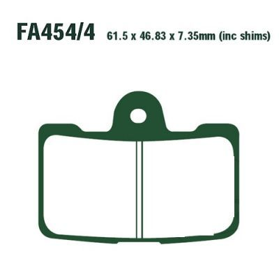 Тормозные колодки EBC FA454/4HH для мотоциклов Buell