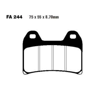Тормозные колодки EBC GPFAX244HH для мотоциклов Aprilia