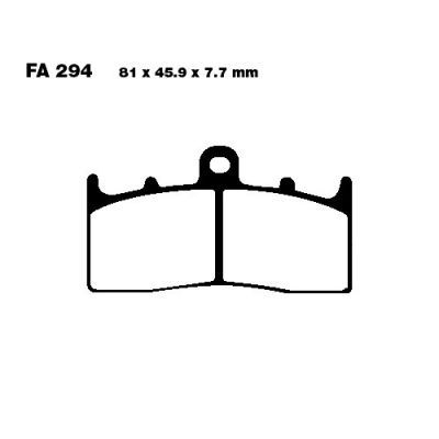 Тормозные колодки EBC EPFA294HH для мотоциклов BMW K 1200 2001-2009