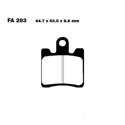 Тормозные колодки EBC SFA283/4HH для мотоциклов Suzuki AN 250 Burgman 1998-2006, Suzuki AN 400 Burgman 1999-2006