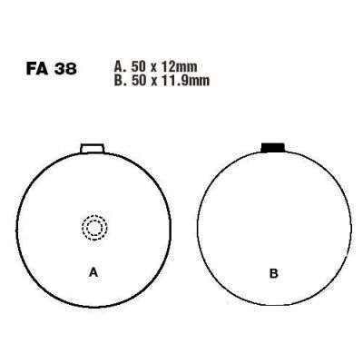 Тормозные колодки EBC FA038V для мотоциклов Suzuki