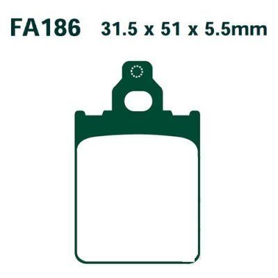 Тормозные колодки EBC SFAC186 для мотоциклов Italjet Formula, LML Star