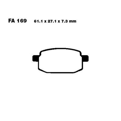 Тормозные колодки EBC SFAC169 для мотоциклов Adly/Herchee, AGM