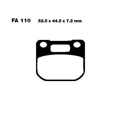 Тормозные колодки EBC FA110 для мотоциклов Suzuki RG 80 1985-1995, Suzuki RG 125 1986-1991