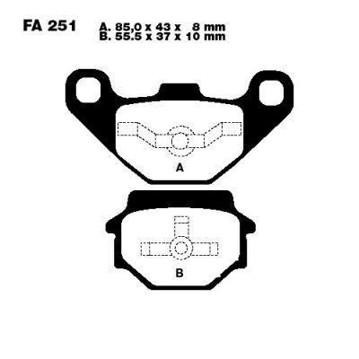 Тормозные колодки EBC FA251 для мотоциклов Buell , Emco Novum