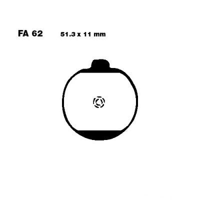 Тормозные колодки EBC FA062 для мотоциклов Kawasaki