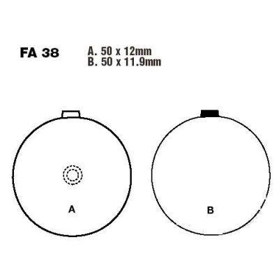 Тормозные колодки EBC FA038 для мотоциклов Suzuki