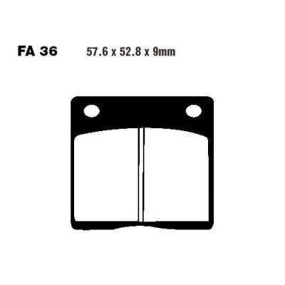 Тормозные колодки EBC FA036 для мотоциклов Kawasaki , Suzuki