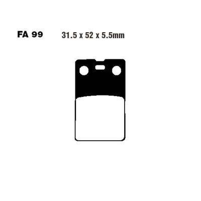 Тормозные колодки EBC FA099 для мотоциклов Benelli, Gilera, Malaguti, Simson