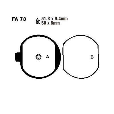 Тормозные колодки EBC FA073 для мотоциклов Kawasaki