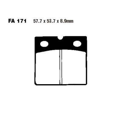 Тормозные колодки EBC FA171 для мотоциклов BMW K 75 1988-1994