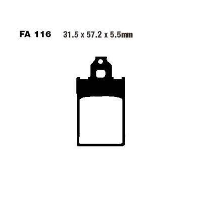 Тормозные колодки EBC FA116 для мотоциклов Aprilia, Simson