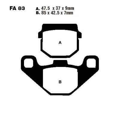 Тормозные колодки EBC FA083R для мотоциклов Adly/Herchee