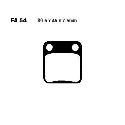 Тормозные колодки EBC FA054R для мотоциклов AJS, Hyosung, Kawasaki
