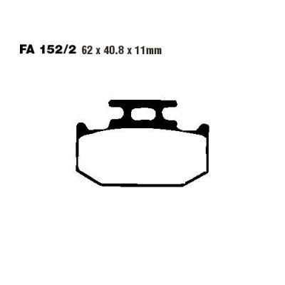 Тормозные колодки EBC FA152/2 для мотоциклов Suzuki, Yamaha