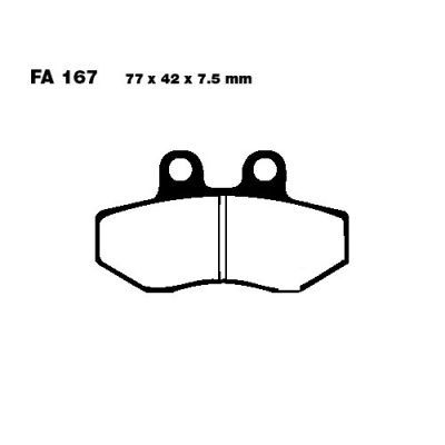 Тормозные колодки EBC FA167 для мотоциклов Aprilia, AJP, Cagiva, CH Racing