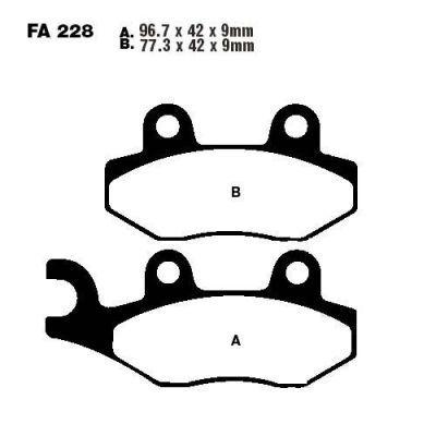 Тормозные колодки EBC FA228 для мотоциклов Buffalo/Quelle , Generic, Honda, Kawasaki , Keeway