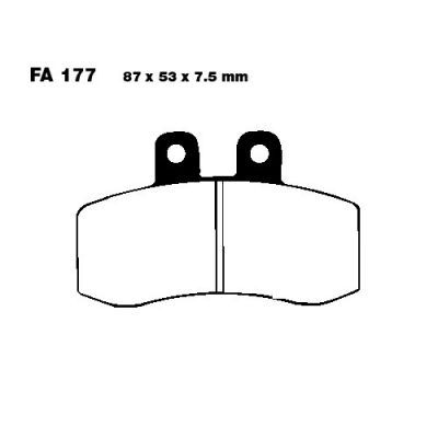 Тормозные колодки EBC  FA177 для мотоциклов Aprilia Pegaso 650 1992-1995, MZ/MUZ Baghira 660 2000-2008
