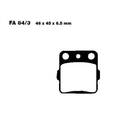 Тормозные колодки EBC FA084/3R для мотоциклов Suzuki, Yamaha