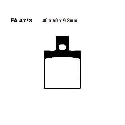Тормозные колодки EBC FA047/3 для мотоциклов Honda CRM 125 R 1990-1999, Honda NSR 125 R 1997-2003