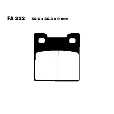 Тормозные колодки EBC FA222 для мотоциклов Suzuki RF 900 R 1994-1995