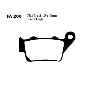 Тормозные колодки EBC FA208R для мотоциклов Aprilia, Benelli, Gas Gas, Husaberg