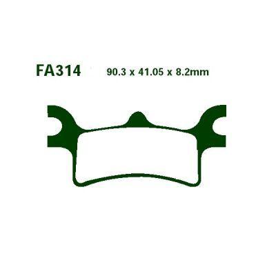 Тормозные колодки EBC  FA314R для мотоциклов Polaris