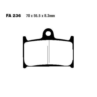 Тормозные колодки EBC FA236 для мотоциклов Triumph Daytona