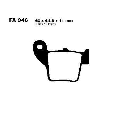 Тормозные колодки EBC FA346R для мотоциклов HM-Moto CRE